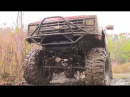 Chevy Mud Truck Beat Down - V8 Chevrolet Pickup on Boggers Mudding, Pulling Getting Thrashed
