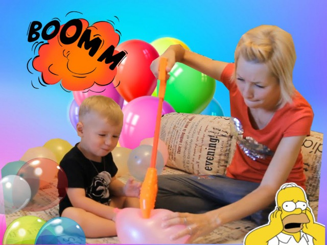Челлендж Лопаем шары с конфетами клешней и зубами Skittles Желебоны Challenge burst balloons