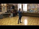 "Stefania Sokolova's rehearsal of song ""Footprints in the sand"" (Leona Lewis)"