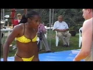 FBB-021 Raquel vs Gerd - Best Mixed Wrestling - Hot Female Wrestler - Female Scissors Male