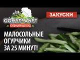 Малосольные огурцы зимой за 25 минут  Лучший рецепт