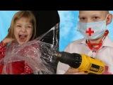 Играем в Доктора Зубной врач рвет зубы и ставит пломбы Стоматолог Доктор УКОЛ Play...