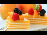How It's Made Layered Jelly Cake | Mango Coconut Pudding Recipe (Agar Agar)