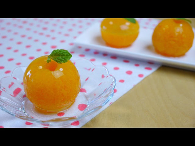 Lakomkavk Mandarin Orange Raindrop Cake