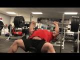 Эд Холл ( Англия ), наклонный жим - 225 кг на 7 раз с паузой в каждом повторе!