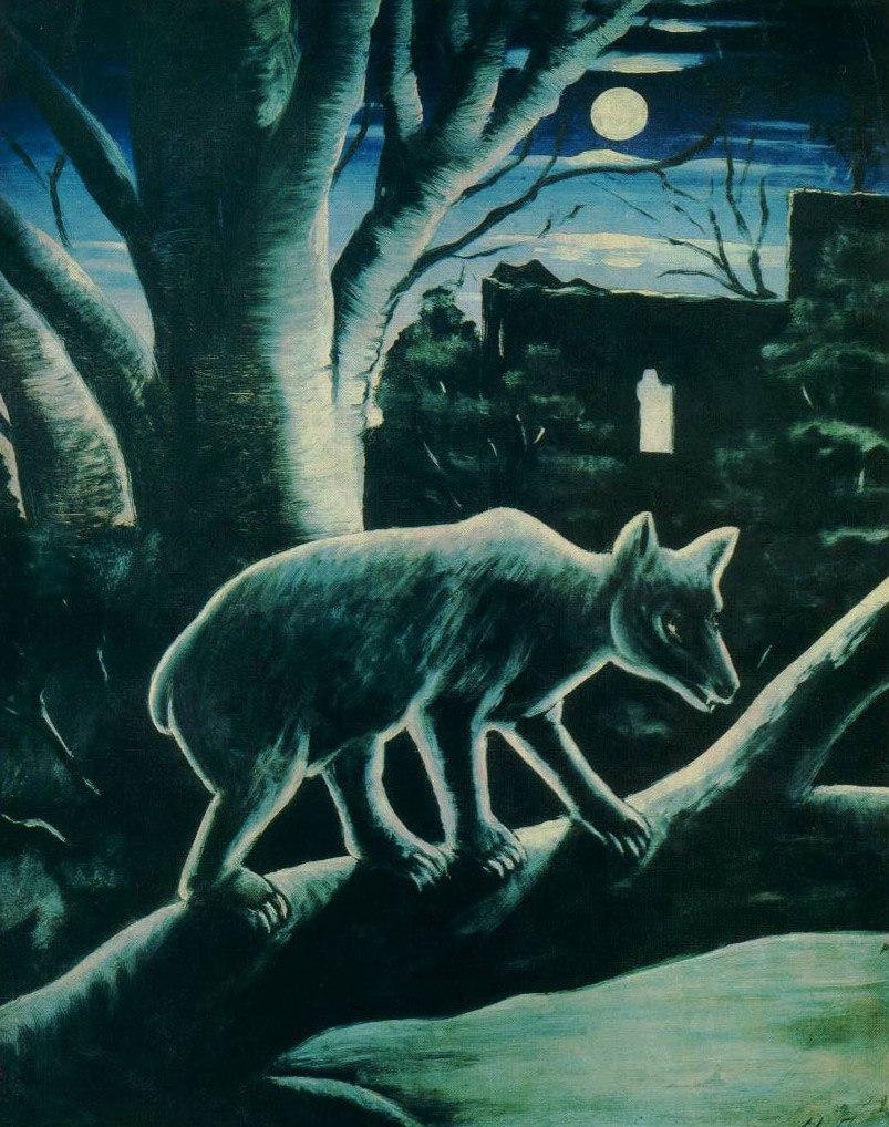 Медведь в лунную ночь. Нико Пиросмани