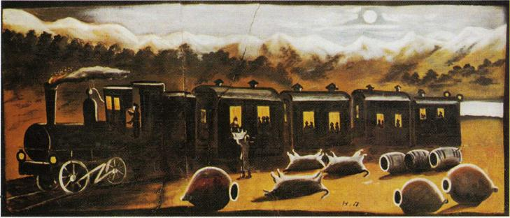 Катехинский поезд. Пиросмани