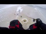 Ловля окуня на блесну зимой.  Чупа-Чупс. озеро Ильмень. Сильный ветер.