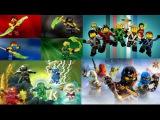 LEGO ninjago intro season 1, 3, 4, 5, 6 Jay, Cole, Kai, Nya, Zane, Sensei Wu Garmadon, Lloyd new s