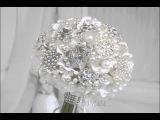 White brooch bouquet Брошь букет Дайкири