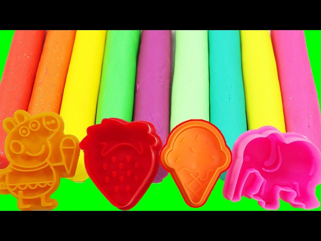 Learn Colors PLAY DOH PEPPA PIG English Episodes Compilation! Finger Family Nursey Rhymes TOYS