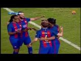 Эль Класико. ЛегендыБарселона - Реал Мадрид. Гол Жюли с волшебной передачи Роналдиньо