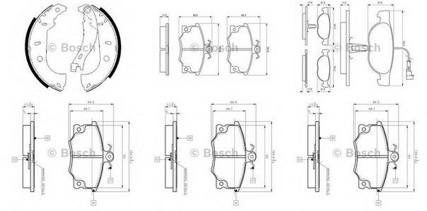 Комплект тормозных колодок для ALFA ROMEO 145 (930)