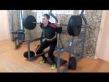 Полуприсед 180 кг на 5 раз
