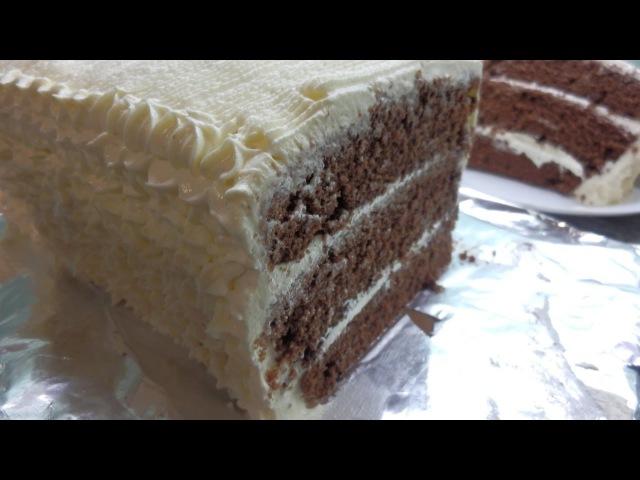 ШОКОЛАДНЫЙ ТОРТ НА КЕФИРЕ/ Черный принц /Chocolate Cake on kefir/Κέικ Σοκολάτας σε κεφίρ