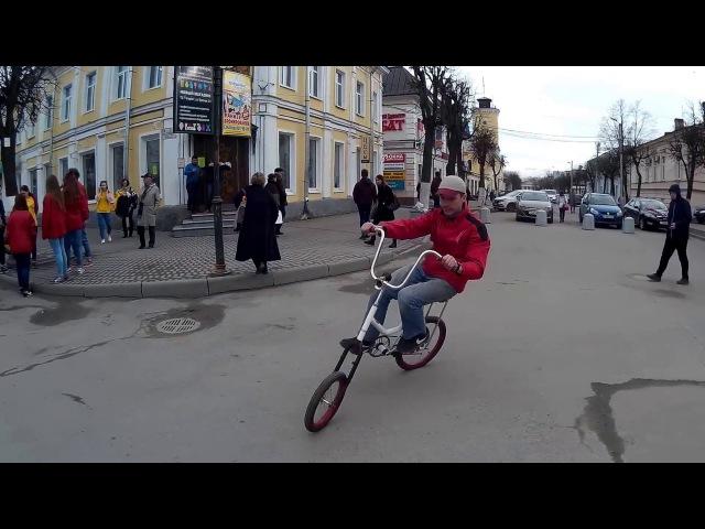 Self-made lowrider swing bike (Gatchina, Russia)