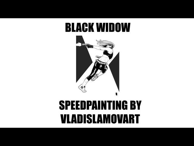 ЧЕРНАЯ ВДОВА | BLACK WIDOW SPEEDPAINTING BY VLADISLAMOVART