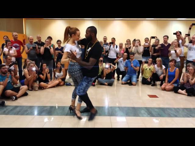 Tony Pirata and Sophie Fox. Kizomba Show Demo at Bachaturo. Warsaw 2015