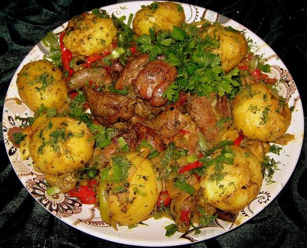 Блюда из картошки с печенью