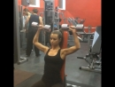 Марина Аксенова жим гантелей сидя 10кг