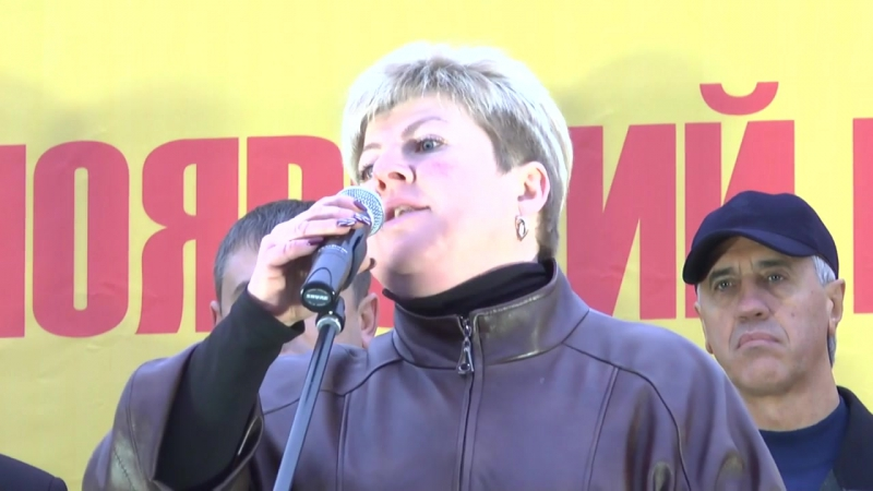 Людмила Захарцова (ЯБЛОКО) на митинге За честные выборы в Красноярске
