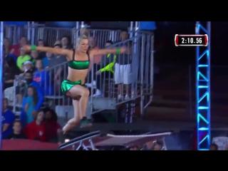 Женщина впервые прошла трассу в финале