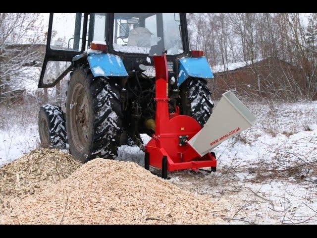 Измельчитель веток, щепорез, дробилка для щепы к трактору МК-120ТР