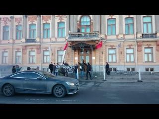 17-ый год на пороге: нацболы атаковали офис «Газпрома» в Петербурге