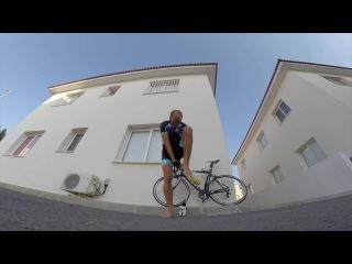 Велотренировка на Кипре - езда по встречной полосе :)