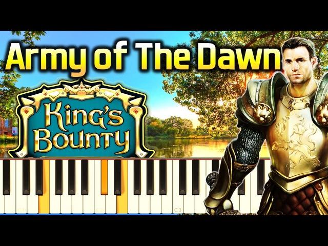 Музыка из игры King's Bounty (Piano cover НОТЫ)