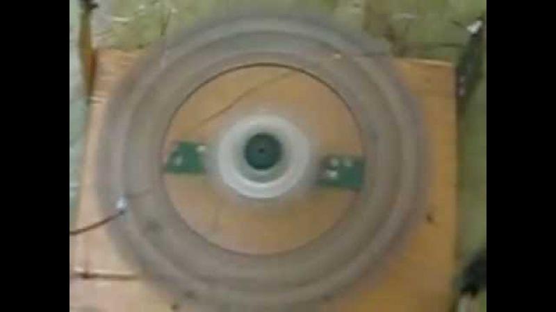 Электростатический двигатель и CD диска