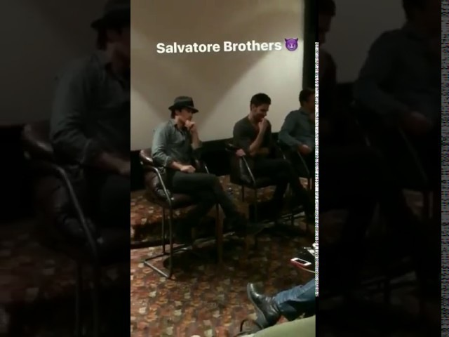 Video of Paul Wesley appears with Ian Somerhalder, Zach Roerig and Michael Malarkey.