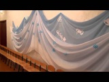 Украшение музыкального зала к Новому году
