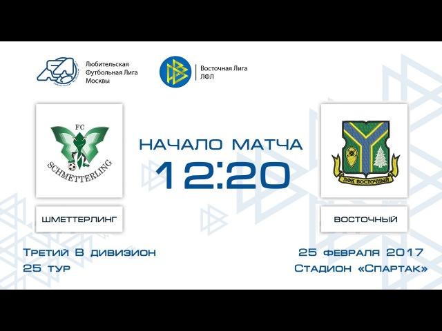 Шметтерлинг 0:6 Восточный   Третий дивизион B 2016-17   25-й тур   Обзор матча