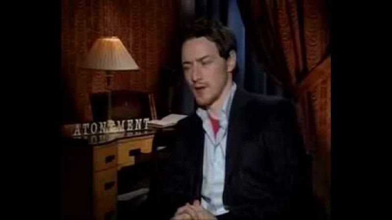 James McAvoy - Atonement Interview - Backstage Pass