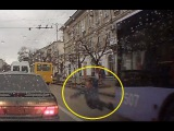 LiveLeak - Jaywalker on cellphone hit by bus