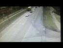 Падение BMW в пруд после ДТП в Москве , район Марьино 2017