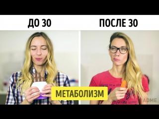 Как выглядит жизнь до и после 30 лет :)