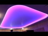 Красивая подсветка потолка. Светодиодная лента. (Натяжные потолки в Новокузнецке) Компания