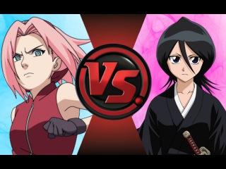 SAKURA vs RUKIA (Naruto vs Bleach)! Cartoon Fight Club Episode 92