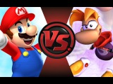 MARIO vs RAYMAN! Cartoon Fight Club Episode 64