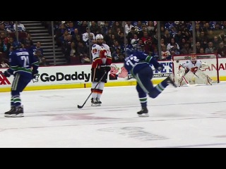 Edler scores from centre on Canucks first shot of game