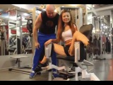 Russian Girl works out her inner thighs.
