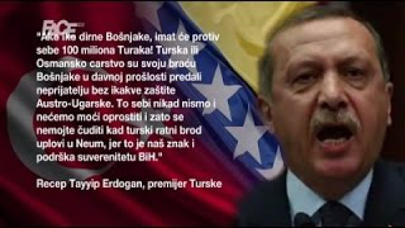 """Erdogan: svako ko bi na bilo koji način """"dirnuo Bošnjake bi protiv sebe imao 100 miliona Turaka"""
