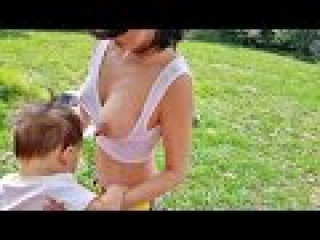 OUTSIDE WINDY BREASTFEEDING BABY ON OUTDOOR TABLE - Everything Mom and Baby