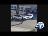 Драка двух негритянок за место на парковке