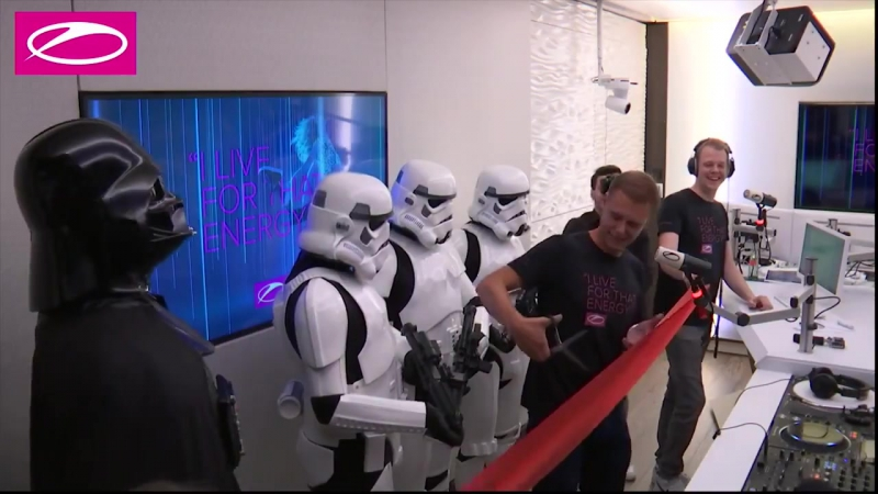 A State Of Trance 800 Part 2 Live in the NEW Studio Star Wars invasion in our studio