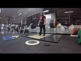 Клео ван Уик - тяга 217,5 кг на 3 повтора