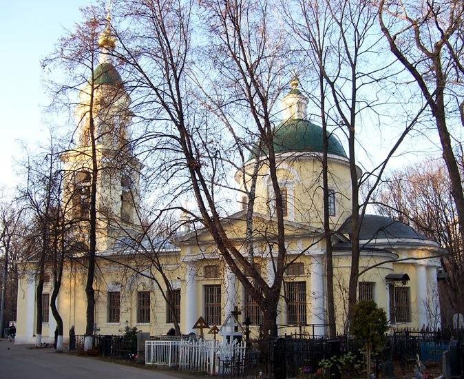 Храм Воскресения Словущего. Ваганьковское кладбище