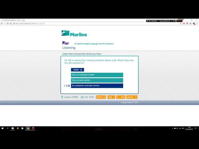 Marlins Online Test for Deck Management Level